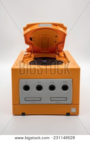 Nintendo Gamecube Console, Vintage Portable Game By Nintendo.