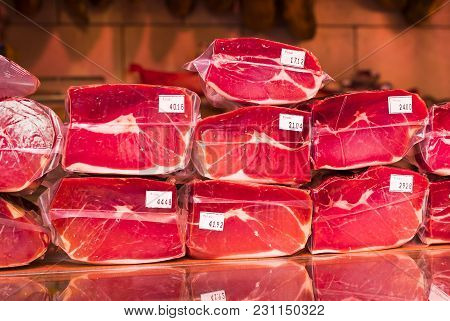 Pork Chamomus Close- Up In Vacuum Packing