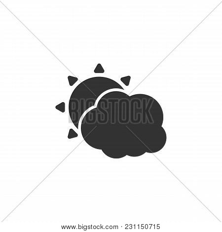 Weather Icon With Cloud And Sun Isolated Vector