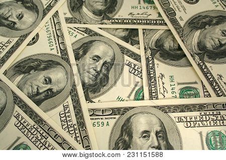 A Money Background Image Of One Hundred Dollars
