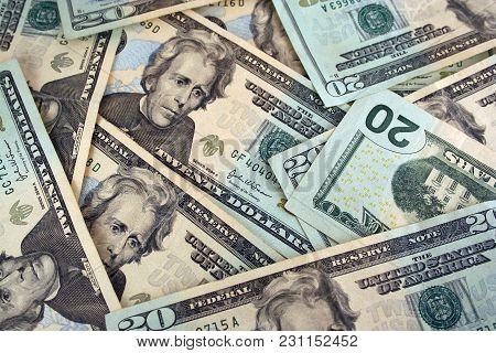 A Us Twenty Dollar Background Texture Image