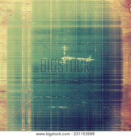 Old grunge background with delicate abstract texture and different color patterns