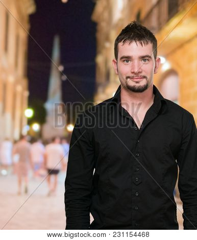 Portrait Of A Young Man, outdoor