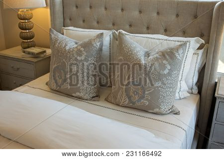 Neutral, Beige Themed Bedding, Pillows, Cushions And Linens.