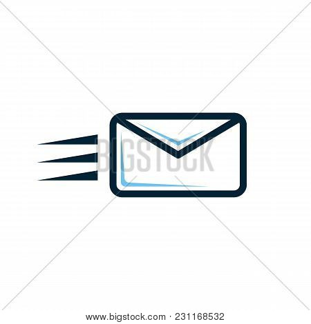 Mail Send Vector Icon. Email Envelope Button. Contakt Address, Inbox, Sign. Mail Communication Newsl