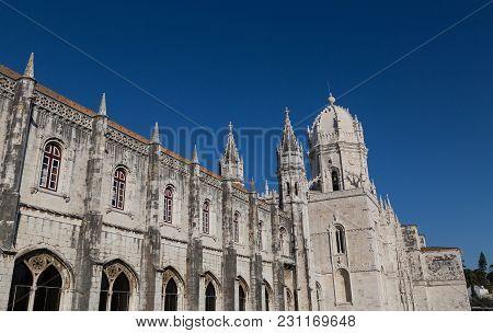 Mosteiro Dos Jeronimos Monastery Belem Lisbon Picture Panoram