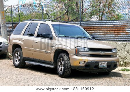 Oaxaca, Mexico - May 25, 2017: Motor Car Chevrolet Trailblazer In The City Street.