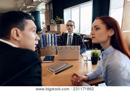 Dissolution Of Marriage Of Two Adults. Divorce Of Adult Couple. Adult Couple Is Divorced. Divorcing