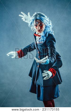 Six-armed Woman With The Third Eye. Mad Circus Troupe.