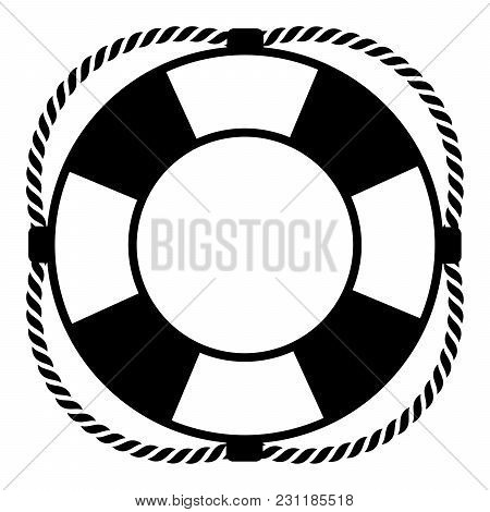 Lifebuoy On A White Background. Vector Illustration