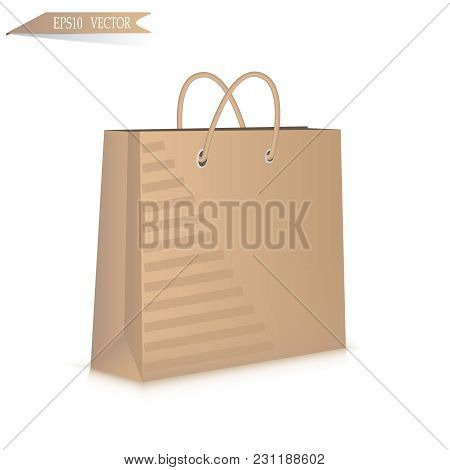 Gift Paper Bag Isolated On White Background. Eps 10