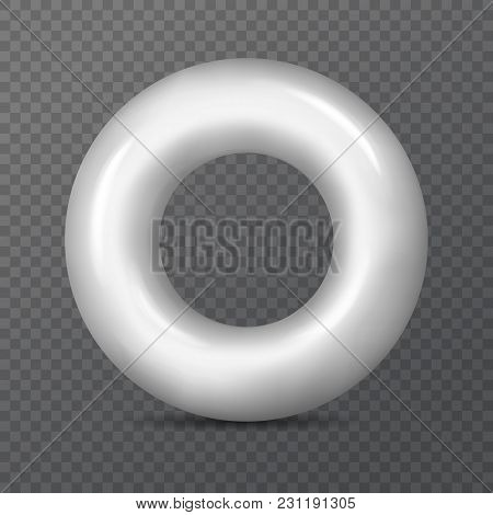 3d Lifebuoy Or Realistic Saving Ring On Transparent. Torus Figure Or Shape Mockup, Empty Or Blank Li