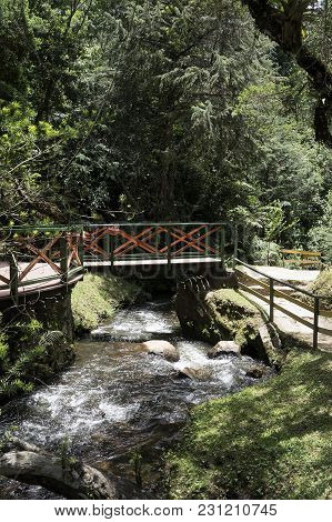 Bridge Tourism Destination Campos Do Jordao Brasil Watercourse