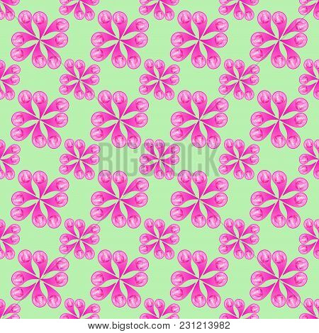 Seamless Pattern For Continuous Replicate. Floral Background, Photo Collage For Production Of Textil