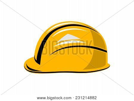 Working Yellow Helmet (isolated Image) Protection And Safety At Work