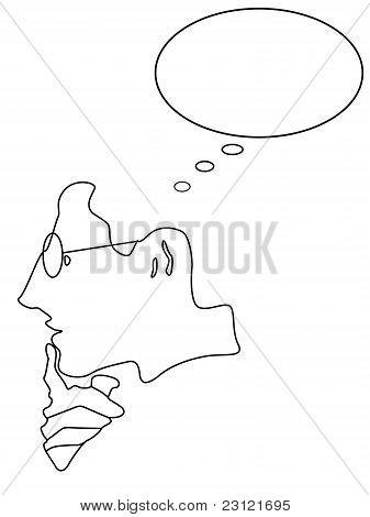 Abstract thinking man vector