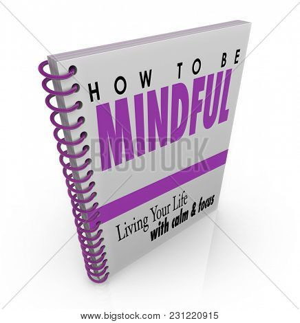 How to Be Mindful Book Advice Manual Instructions 3d Illustration