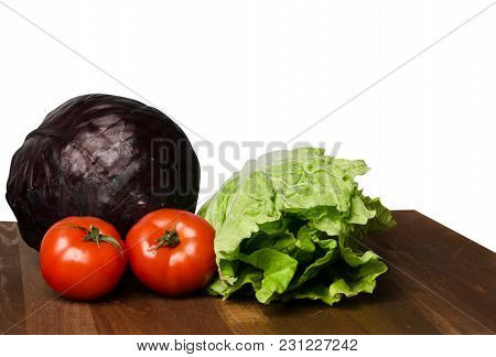 Vegetables On A Table Isolated On A White Background .fresh Vegetables. Colorful Vegetable . Healthy