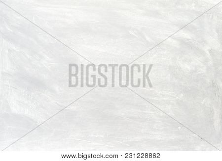 White Washed Painted Textured Abstract Background With Brush Strokes In Gray And Black Shades