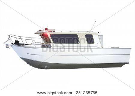 Motor boat isolated