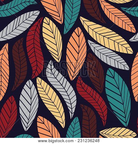 Authentic Leaves Pattern. Vintage, Authentic, And Ornate Pattern For Brand Who Has Authentic Style.