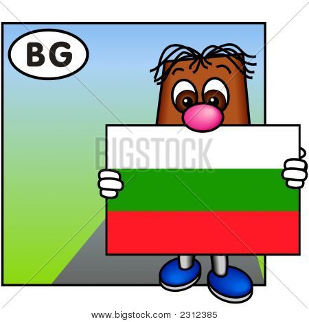 'Brownie' Showing The Bulgarian Flag