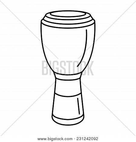 African Drum Icon. Outline African Drum Vector Icon For Web Design Isolated On White Background