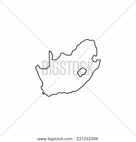 South Africa Map Icon. Outline South Africa Map Vector Icon For Web Design Isolated On White Backgro