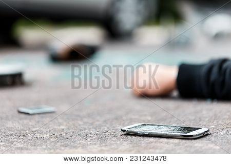 Broken Phone On The Street