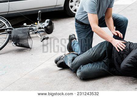 Pedestrian Helping Accident Victim
