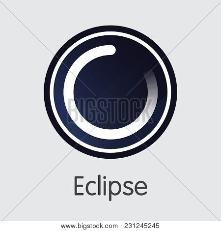 Crypto Currency Eclipse. Net Banking And Ec Mining Vector Concept. Cryptographic Currency Mining Fin