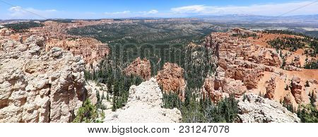 Panorama Of Bryce Canyon National Park In Utah. Usa