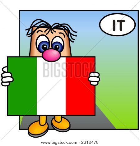 'Paley' Showing The Flag Of Italy