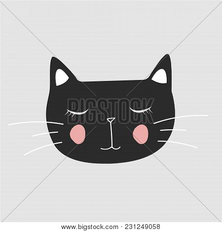 Cute Cat,t-shirt Print, Valentine's Day, Animal Drawing, Cartoon Character,