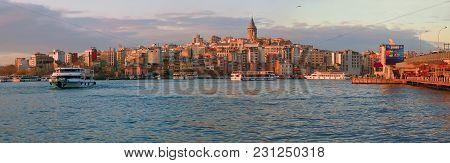 Istanbul, Turkey - March 28, 2012: Golden Horn Bay.