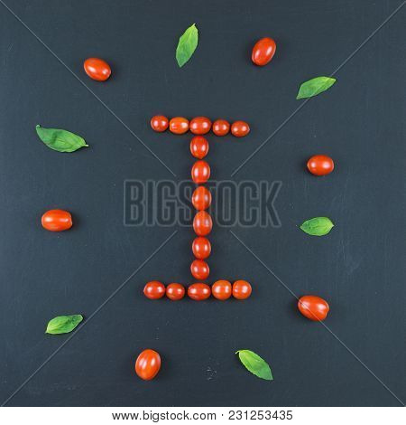 Italian Food Eating Pattern With Letter