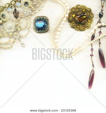 Vintage jewellery border