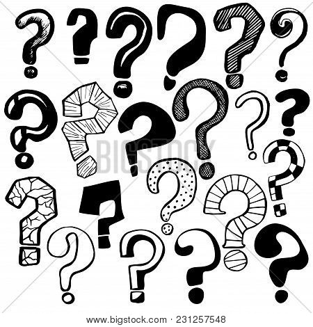 Question Marks Signs Black Icons Set Different Types For Web And App Design Symbol Of Ask. Vector Il