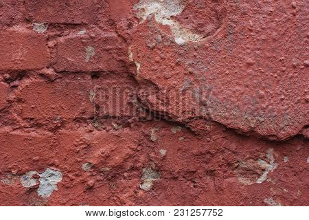 Grunge Brick Wall, Highly Detailed Textured Background.