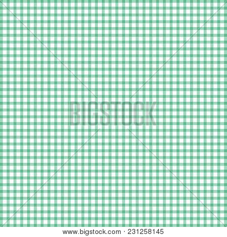 Abstract Suuare Pattern Green And White Color On White Background. Lines Overlap. Grid. Vector Illus
