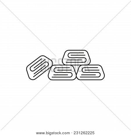 Turkish Sweets Icon. Outline Turkish Sweets Vector Icon For Web Design Isolated On White Background