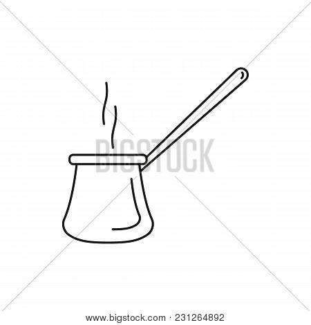Hot Turkish Coffee Icon. Outline Hot Turkish Coffee Vector Icon For Web Design Isolated On White Bac