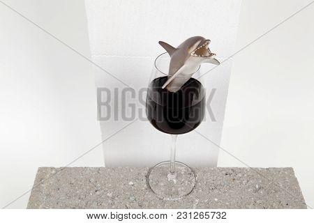 Dolphin Wine Glass
