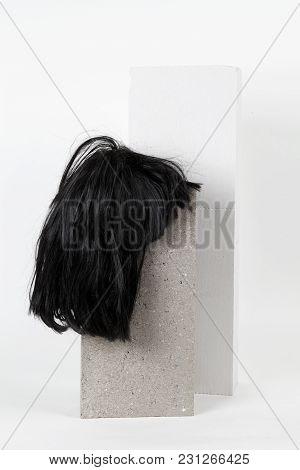 Black Wig Cinder Block