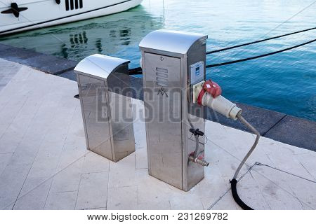 Tivat, Montenegro - September 21: Special Place Where They Receive An Electrical Charge Watersports
