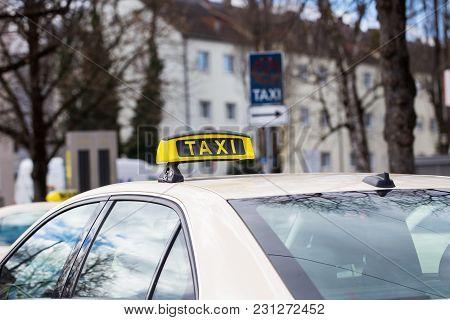 Taxi, German Taxi, At The Taxi Rank, City