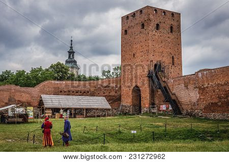 Czersk, Poland - June 24, 2017: Courtyard Of Castle From Turns Of 14 And 15th Centuries In Czersk, S