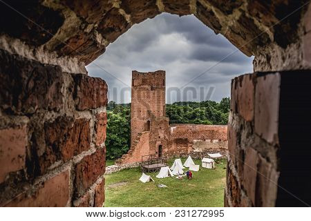 Czersk, Poland - June 24, 2017: Ruins Of Castle From Turns Of 14 And 15th Centuries In Czersk, Small