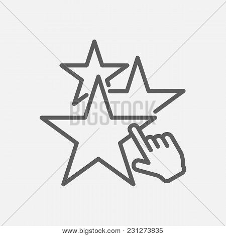 Star Icon Line Symbol. Isolated  Illustration Of  Icon Sign Concept For Your Web Site Mobile App Log