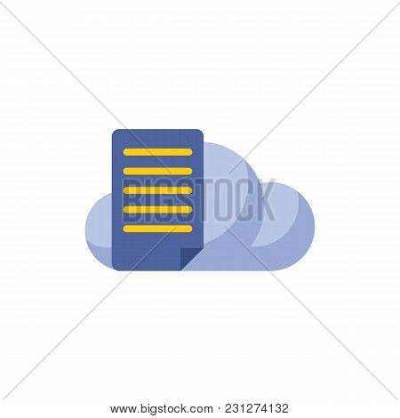 File Storage Icon Flat Symbol. Isolated Vector Illustration Of Document Sign Concept For Your Web Si